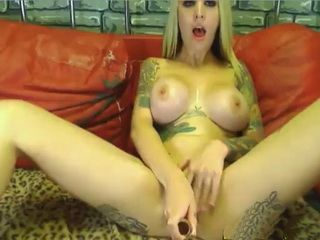 Big Tits Tattooed Webcam Blonde Want Some Cum