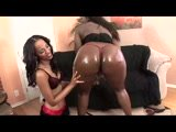 Black Lesbians Licked Juicy Pussy and Strapon Anal