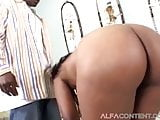 Ebony Babe Loves This BBC Up Her Ass