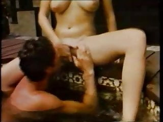 Irresistible 80s slut fucking in bed and in the jacuzzi