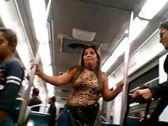 mega ass in the subway