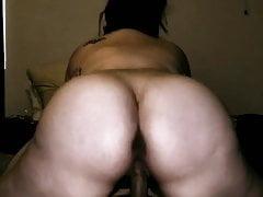 Beautiful Big Booty Milf Twerking on Big Cock