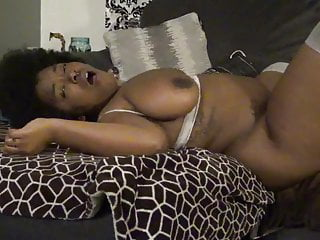 chubby black woman gets her pussy fucked by a white man