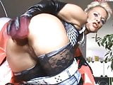 German Mature Sachsen Lady Smokes Anal Dildo Invites Men!