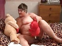 Old fat slut at home constantly masturbates and cums Part 4