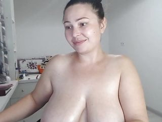 Sexy milf with lovely natural boobs
