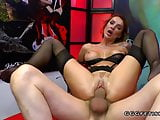 Gangbang with anal and facials on elen million