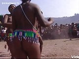 African tribal culture. Natural fat Ass.