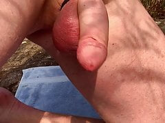 Wanking at the nude beach