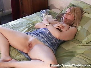 Curvy Blonde MILFs Pussy Twitches From Nipple Stim