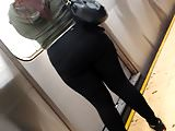 Super massive ass in tight Black spandex, pt.3
