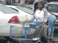 Grocery booty with bouncing teen tits oh my!!