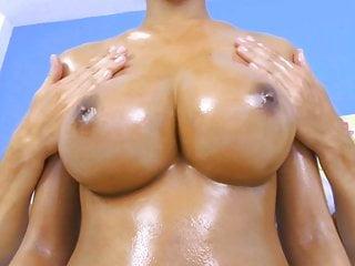 Rub my big natural Asian tits then fuck me
