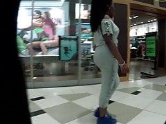 Black teen in tight sweat pants woo man!!