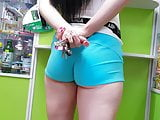 Perfect Russian ASS In a Mini Shorts