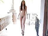 Slender Fashion Model Dana Dances Nude and Masturbates