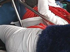 Voyeur da novinha de quatro no metro