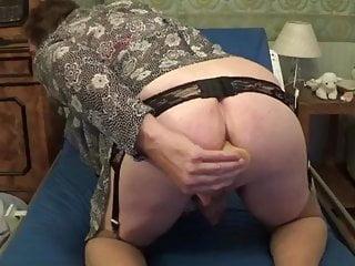 granny mature big boobs anal dildo lingerie nylon 22