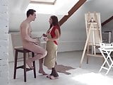 Katarina Muti Rough Sex in Atelier