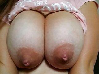 Cumming on HUGE 19yo Mexican Titties