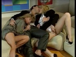 Tracy Adams in Horny Threesome - Vintage