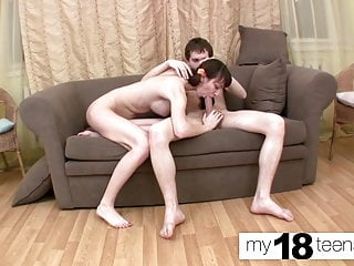 MY18TEENS - Skinny Teen Blowjob Cock and Doggystyle Hard Sex