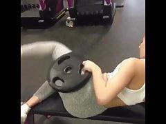 Gym slut spreading her ass
