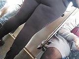 Super massive ass in tight Black spandex, pt.1
