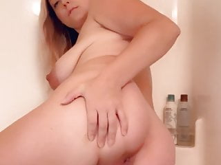 Big Tits Pregnant Girl Spreads Ass In The Shower