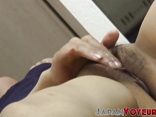 Hairy pussy of submissive Japanese wife is recorded secretly