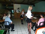3 hot anal maids in restaurant