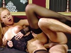 Skinny Stockings Teen Meg Laren in Rough Anal Fuck Scene