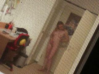 Hiddencam window naked sexy Girl