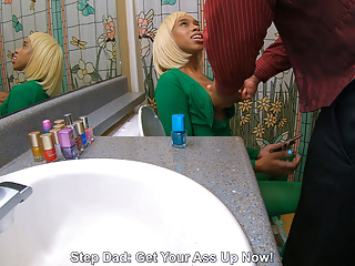 Cornered By StepDad On Toilet, Grab My Huge Tits Msnovember