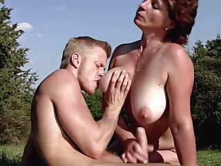 Mature with big tits love to get fucked outdoors
