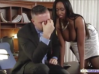 Secretary big black boobs